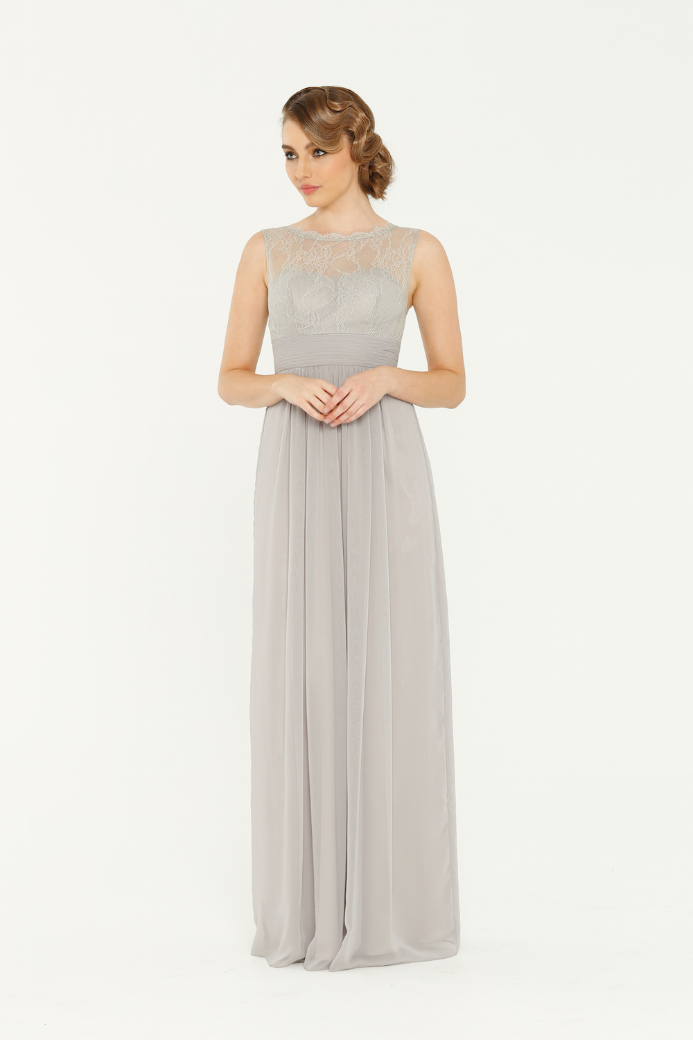 PO34 Charlotte Bridesmaids Dress - end of dye lot grey