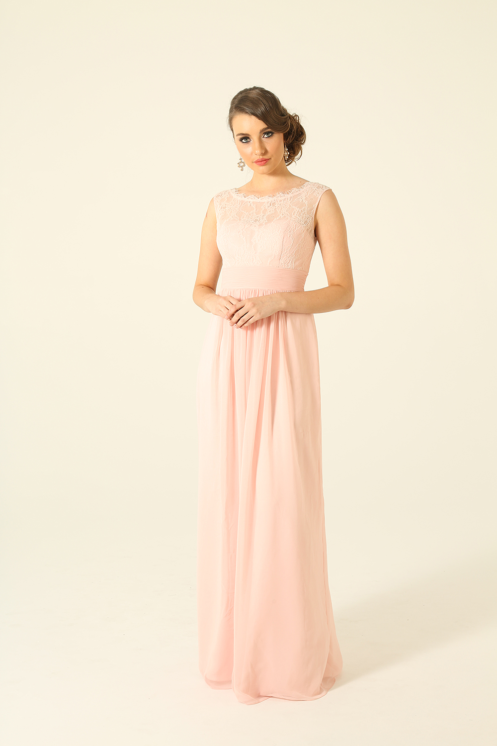 PO34 Charlotte Bridesmaids Dress - end of dye lot pink