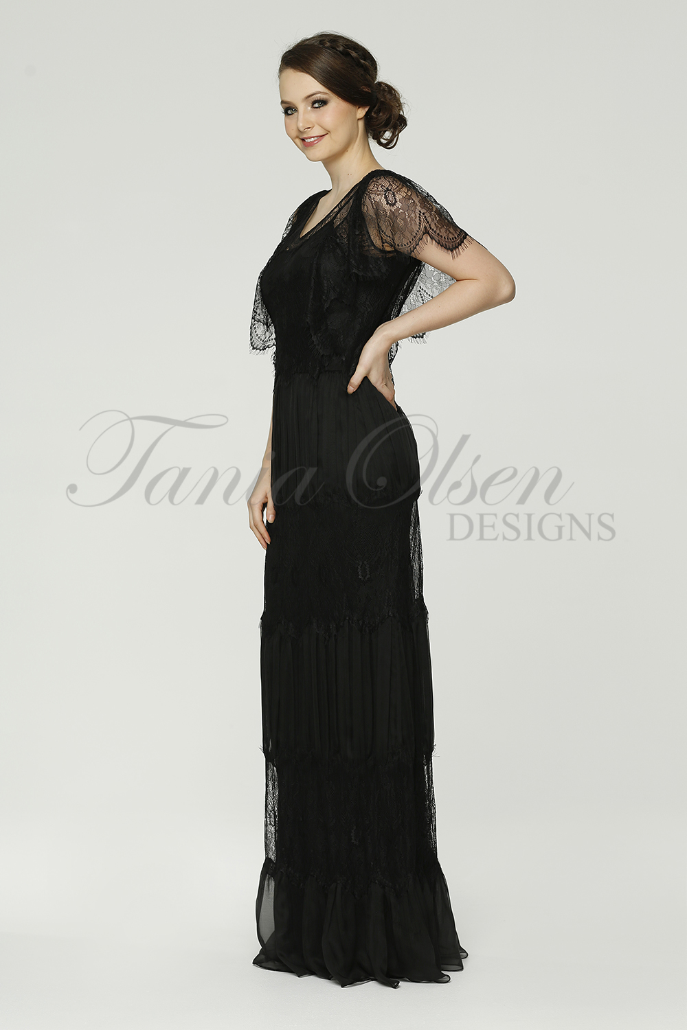TO58 Clara Evening dress side