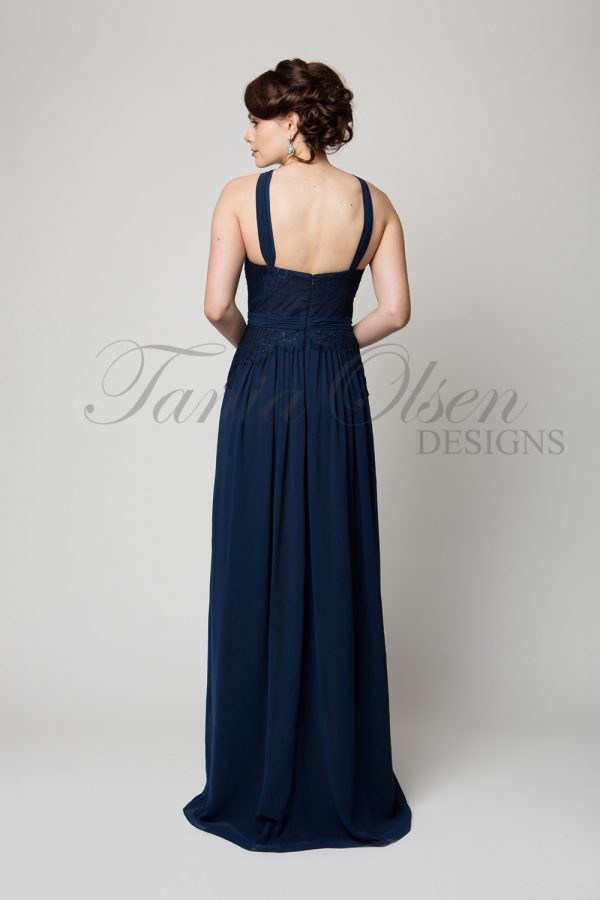 TO60 Bella Bridesmaid Dress Navy Back