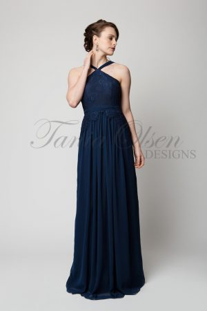 TO60 Bella Bridesmaid Dress Navy Front