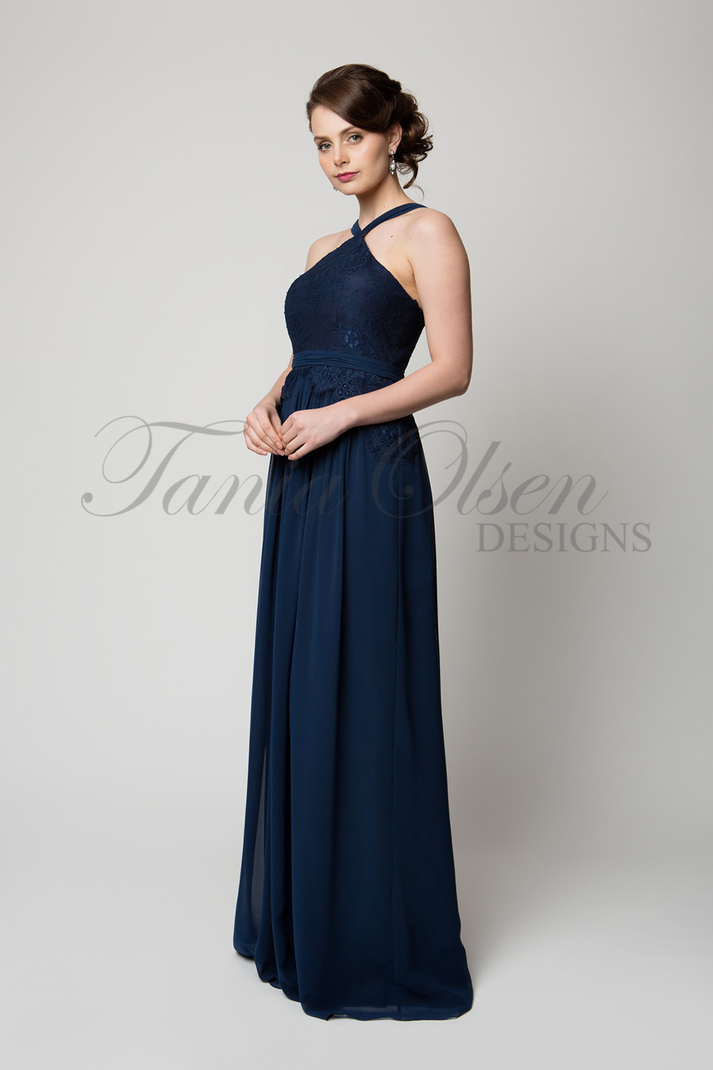TO60 Bella Bridesmaid Dress Navy Side