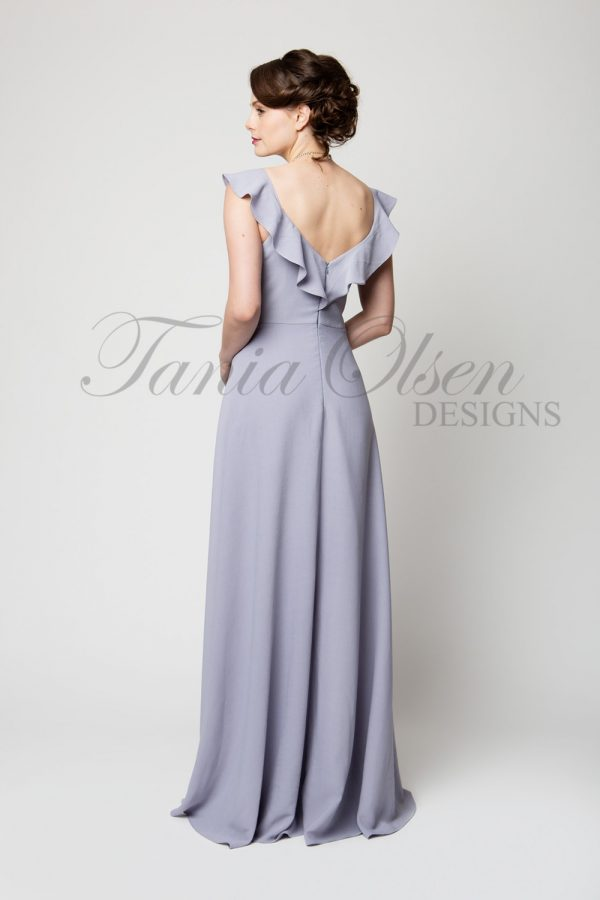 TO61 Scarlett Bridesmaid Dress Dusty Lilac Back