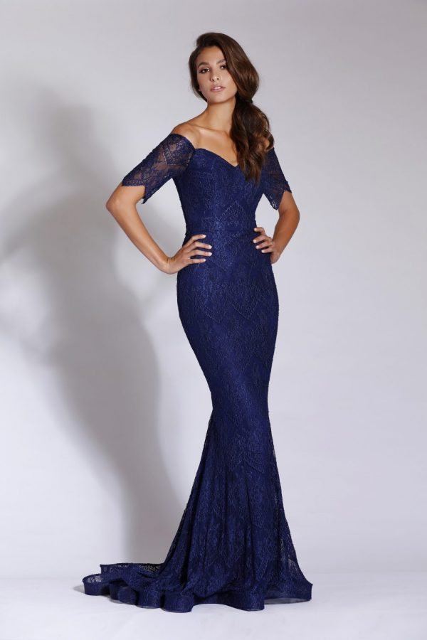 Elaine evening dress Navy