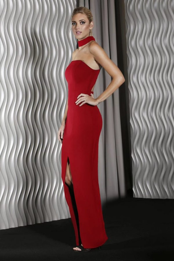 j9002 Madison Formal Dress Red