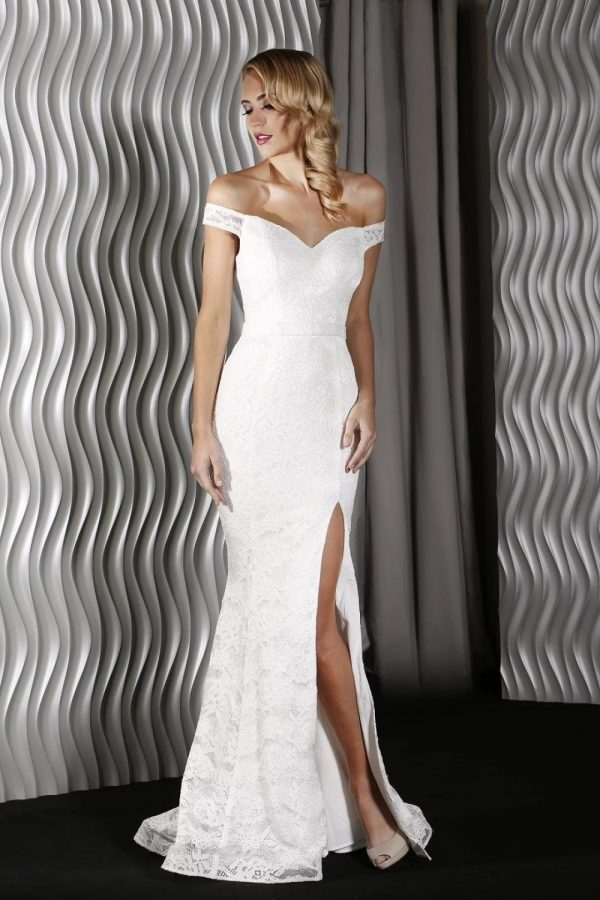 Harper Formal Dress ivory