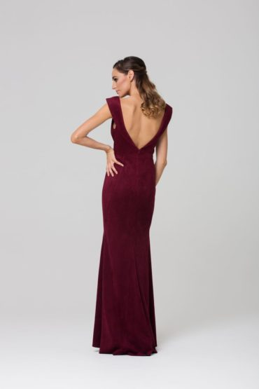 Abbey stretch suede bridesmaids dress