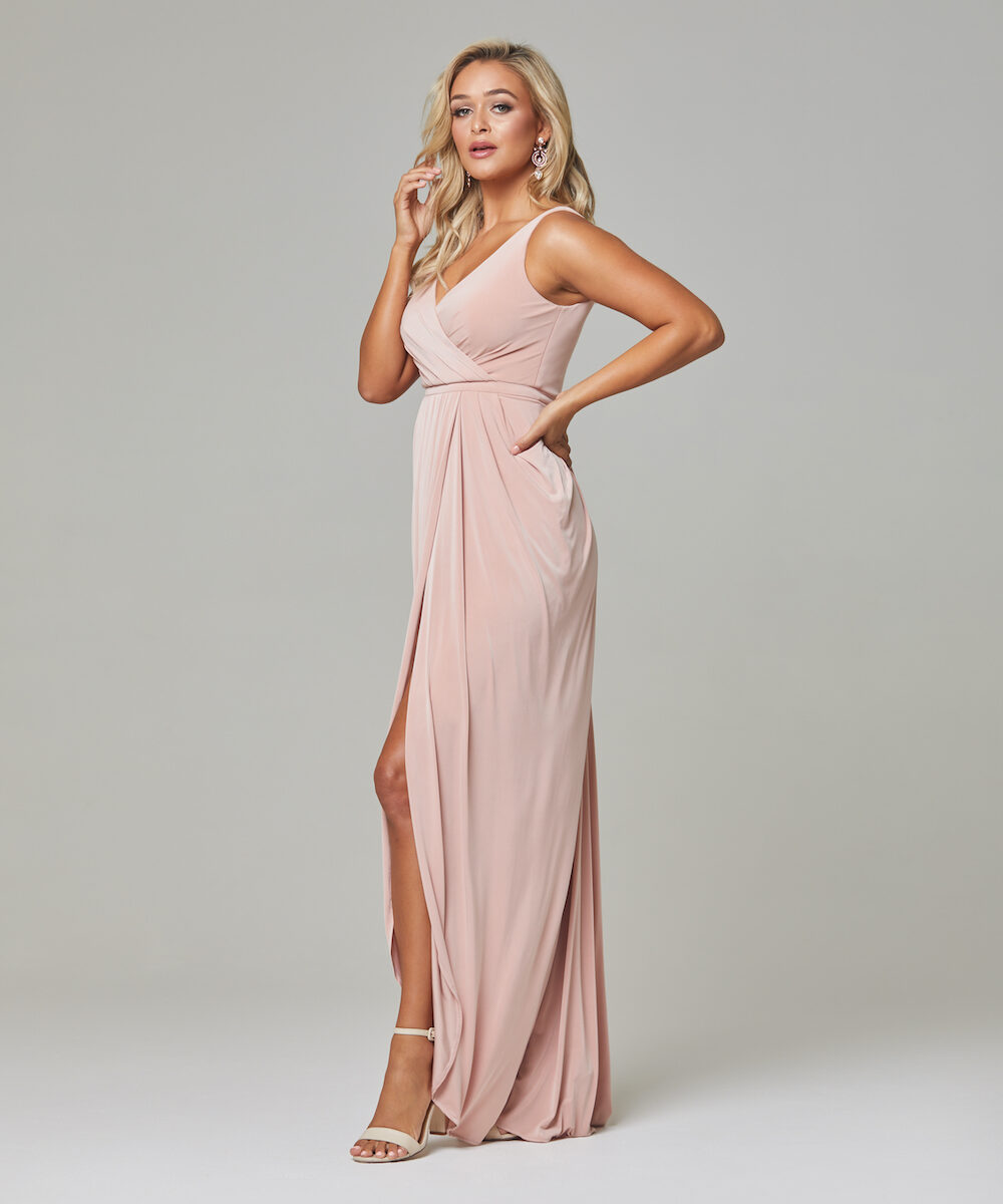 Bianca Bridesmaid Dress TO72 - Blush - Side