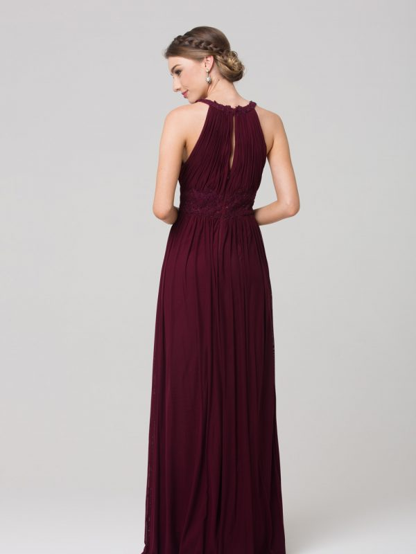 Bonita Stretch Tulle Bridesmaids Dress wine back