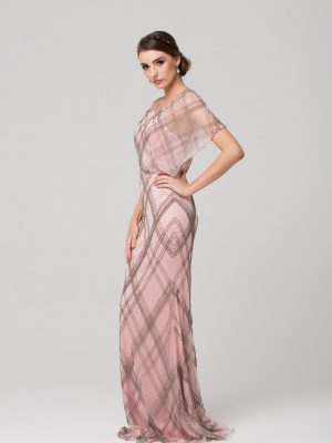 PO77 Brooke evening dress BLUSH SIDE