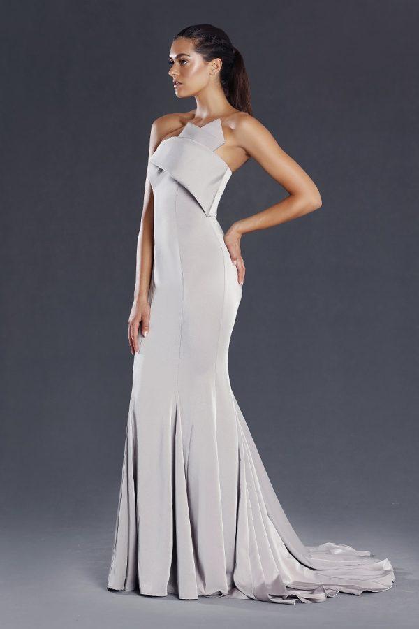 Lillian bold strapless ball gown