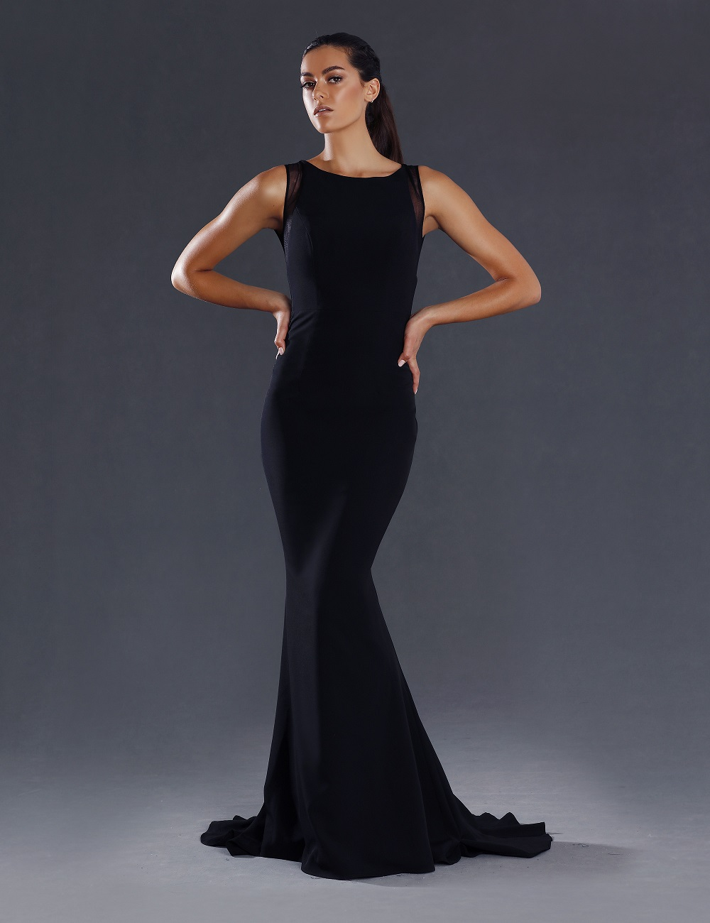 Alana open back formal dress