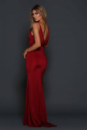 Tess V-Neck evening dress