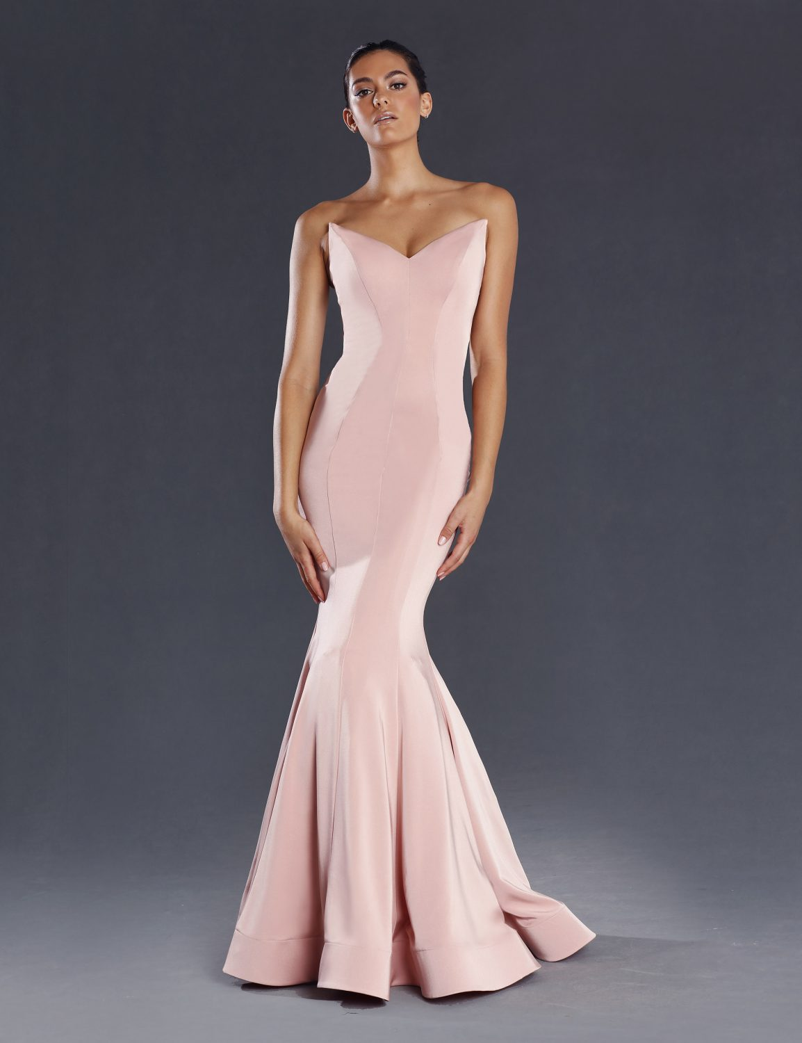Lorde Strapless fitted Formal Dress