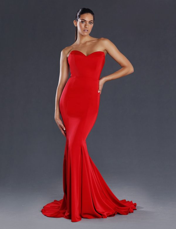 Luna fitted evening dress