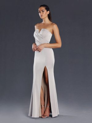 Maya formal gown with split