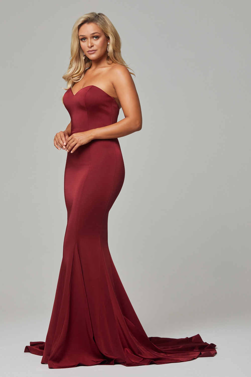 c504d5fc35bd Kiara strapless fitted sweetheart formal dress - Sentani Boutique