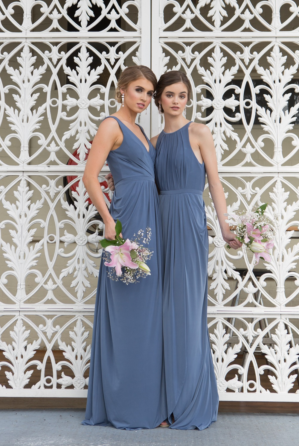 Sandra high neck Bridesmaid dress