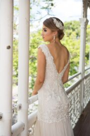 Bexley beaded lace tulle wedding dress