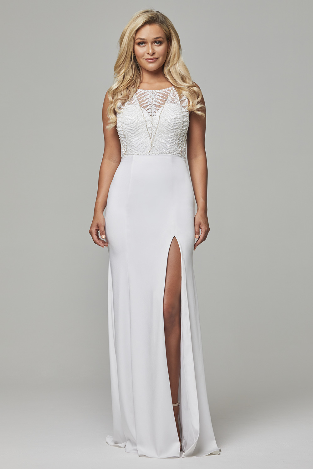 Zaylee beaded low back evening dress PO591
