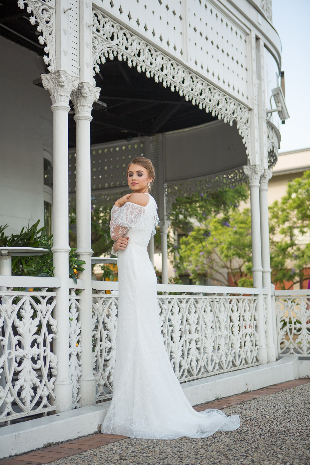 Ophelia long sleeve wedding dress