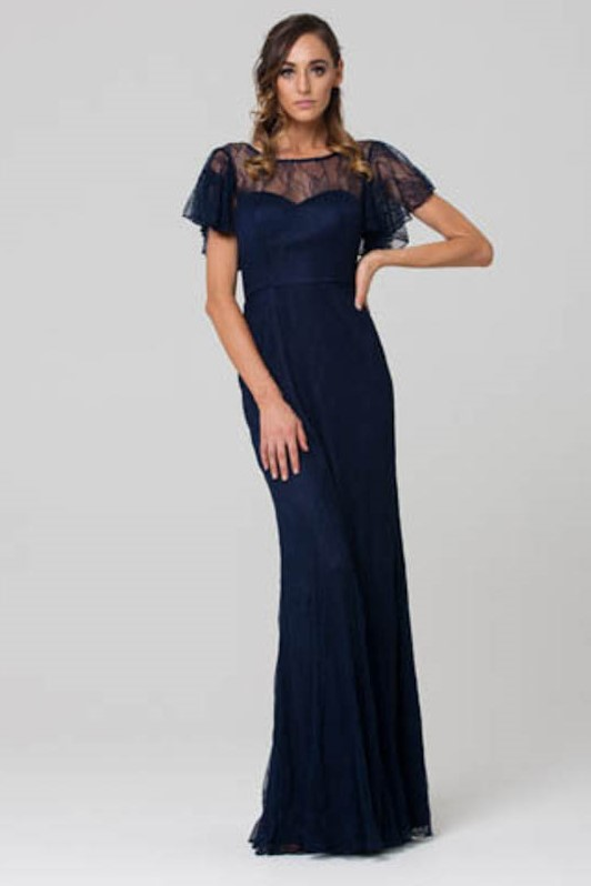 Harper bridesmaids dress navy