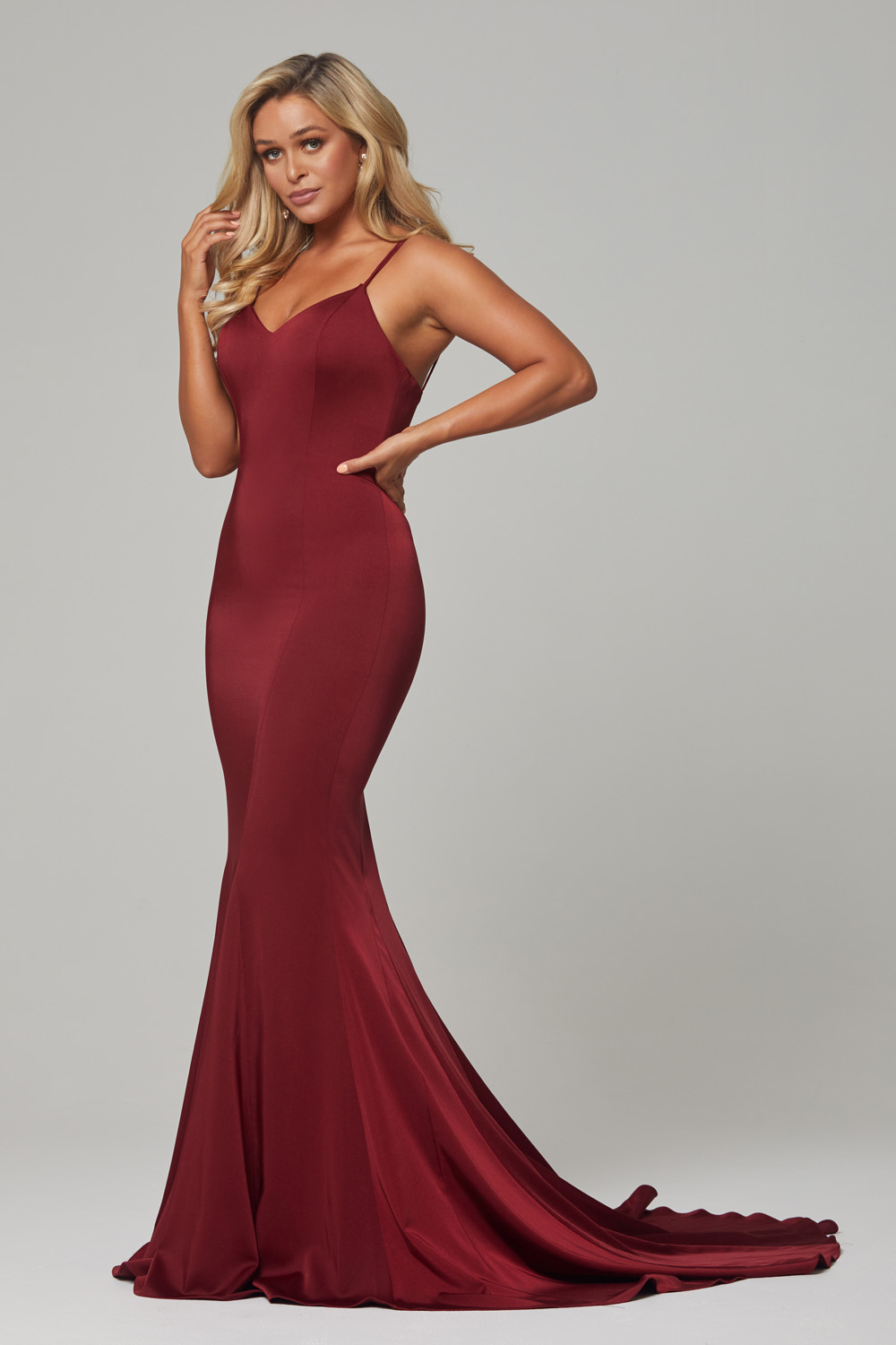 PO593-Wine-Bree dress-side