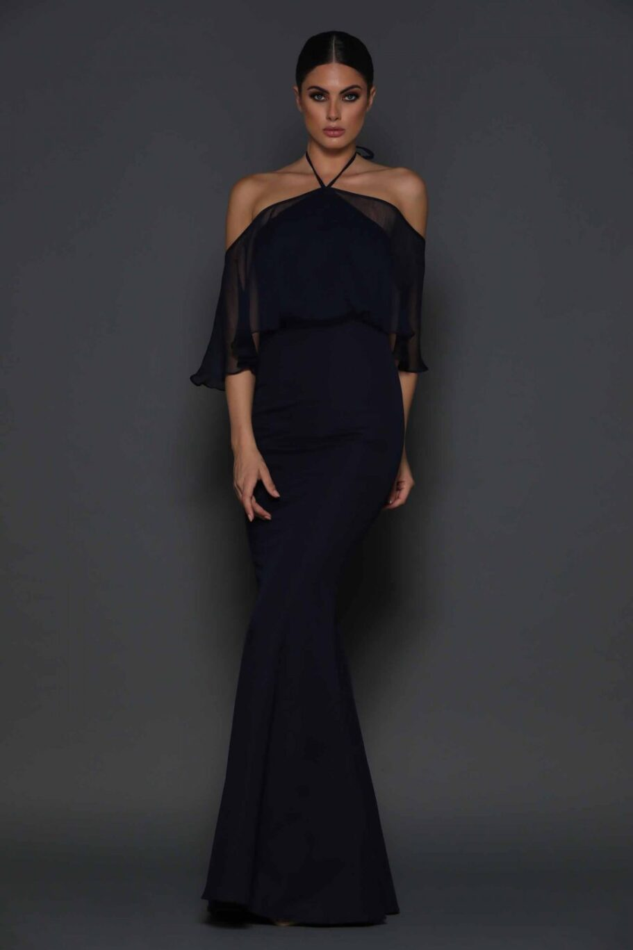 Imani off the shoulder draped sleeve dress