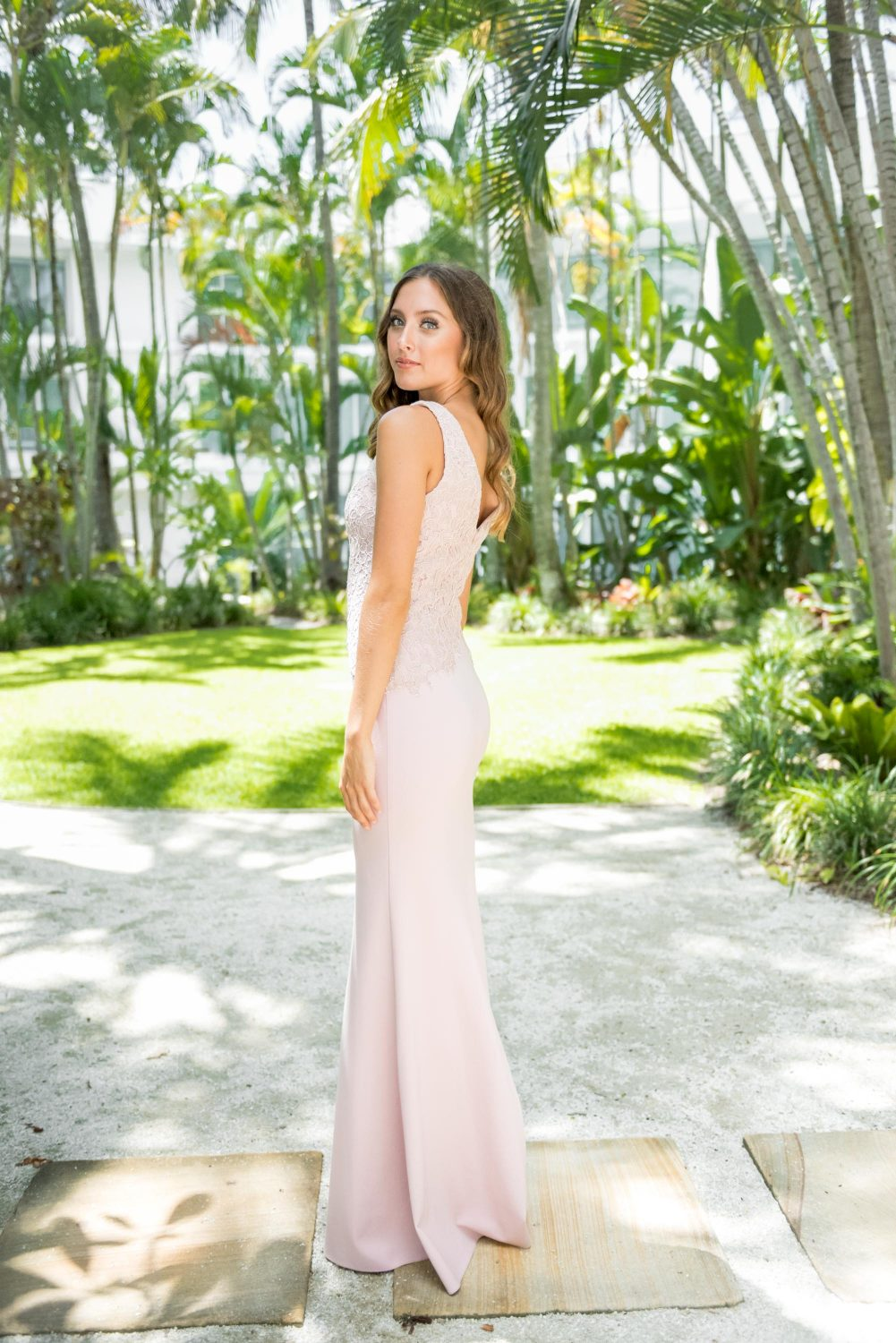 Bronte v-neck bridesmaids dress