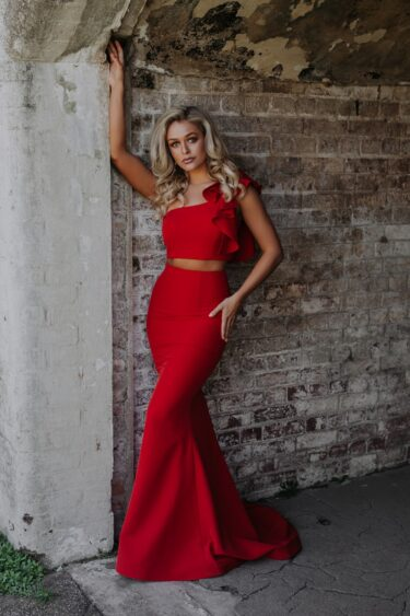 Skyler Evening Dress red