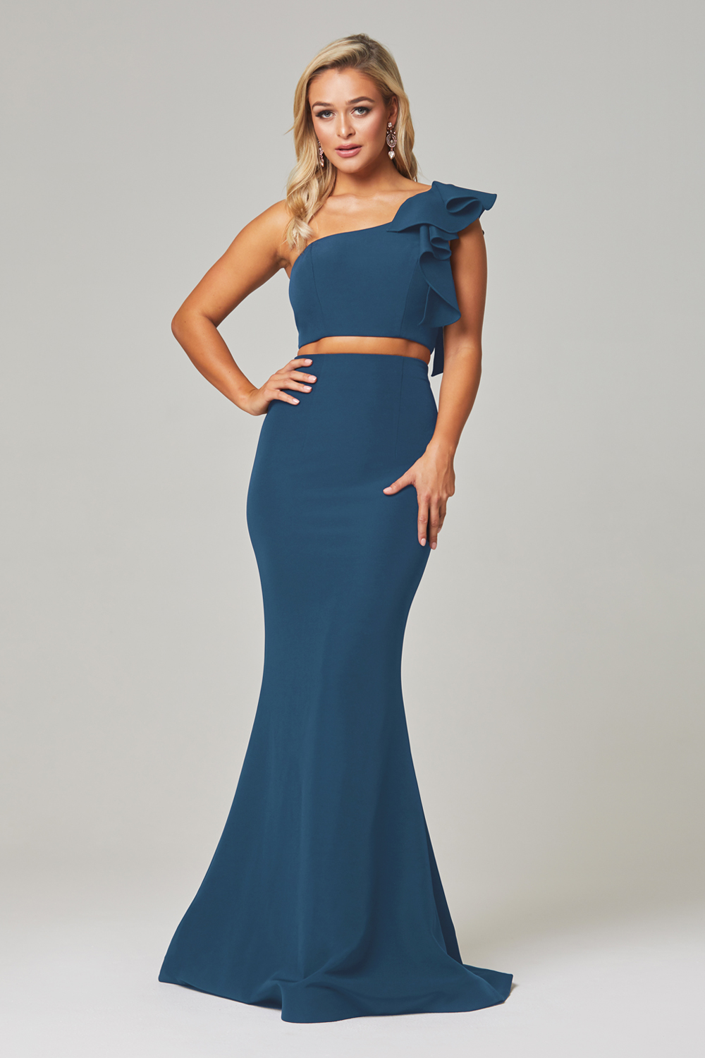 Skyler teal dress front