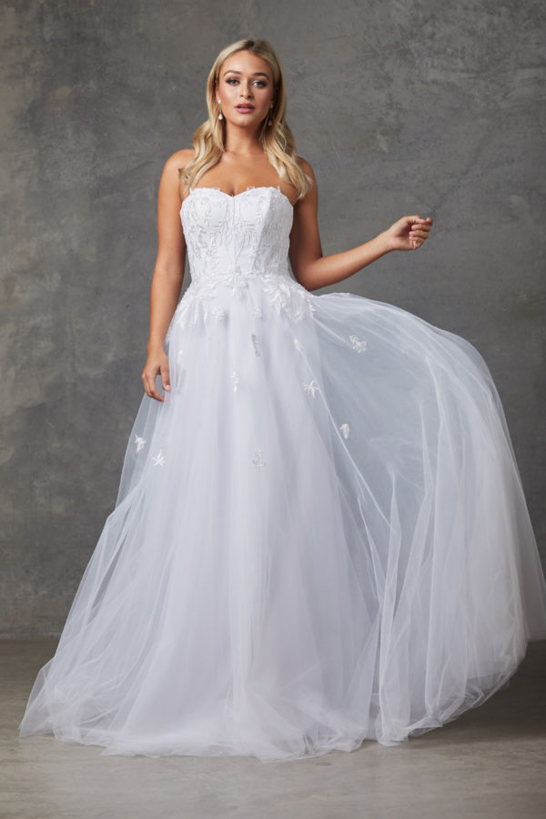 Louisa Wedding Dress-Purewhite