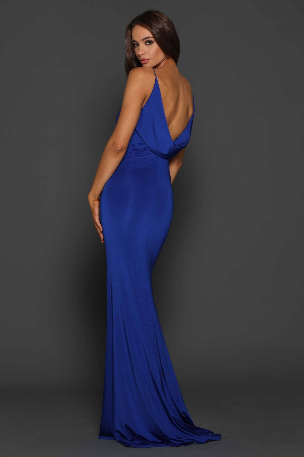 Tess cobalt low back Formal dress back