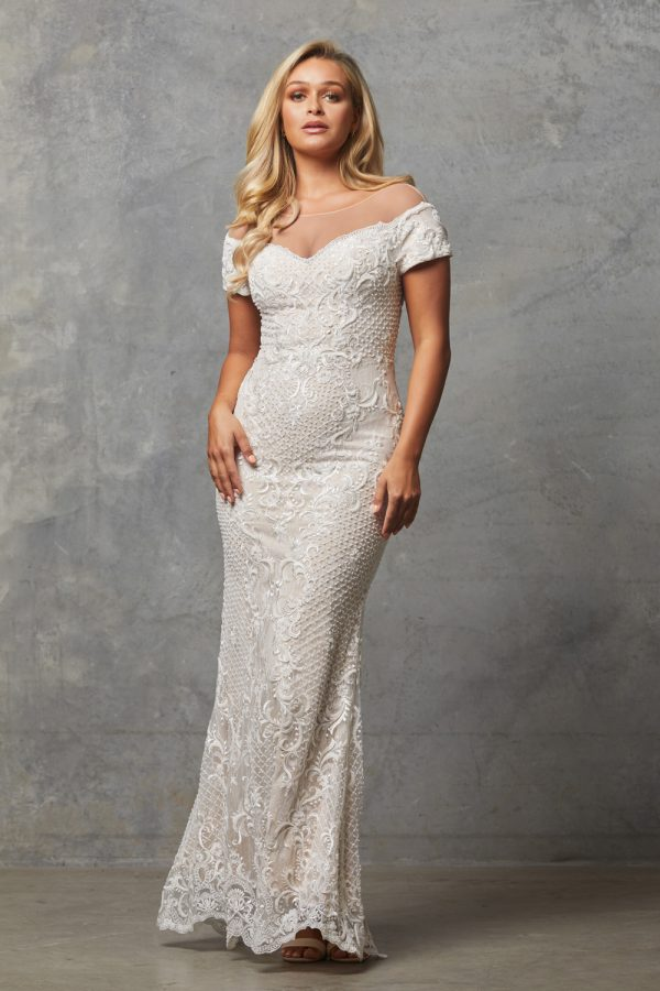 Evie Wedding Dress-Vintage white nude-Evie dress (1)