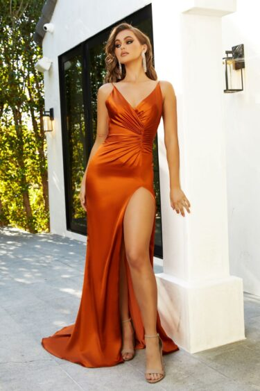 Hugo by Portia and scarlett (burnt orange) front angle