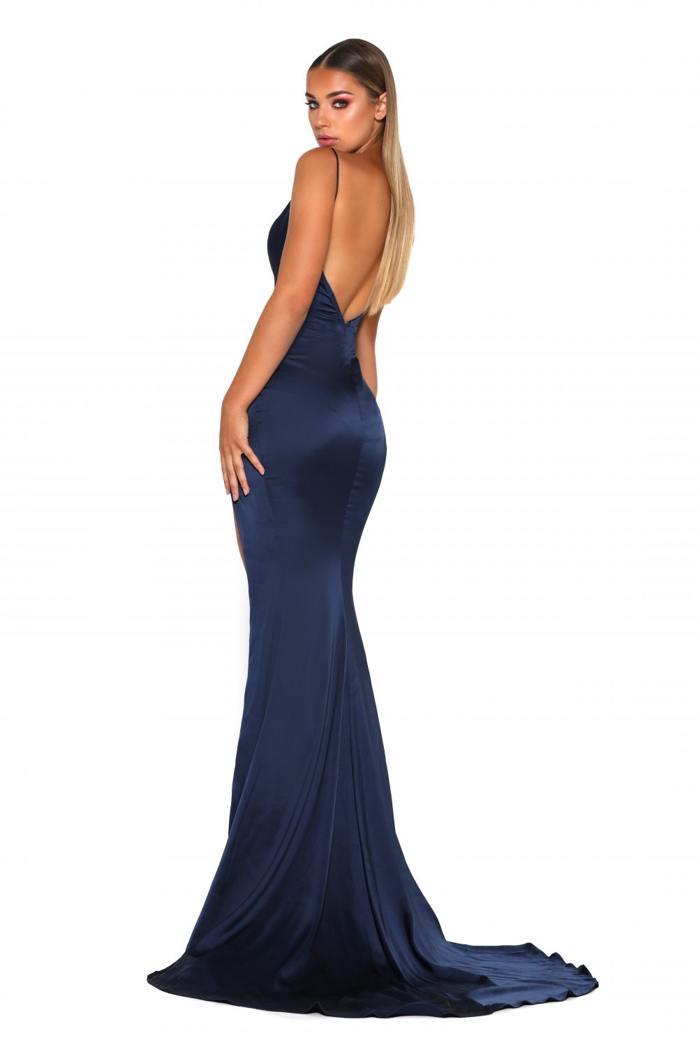 Hugo Gown Navy (4)