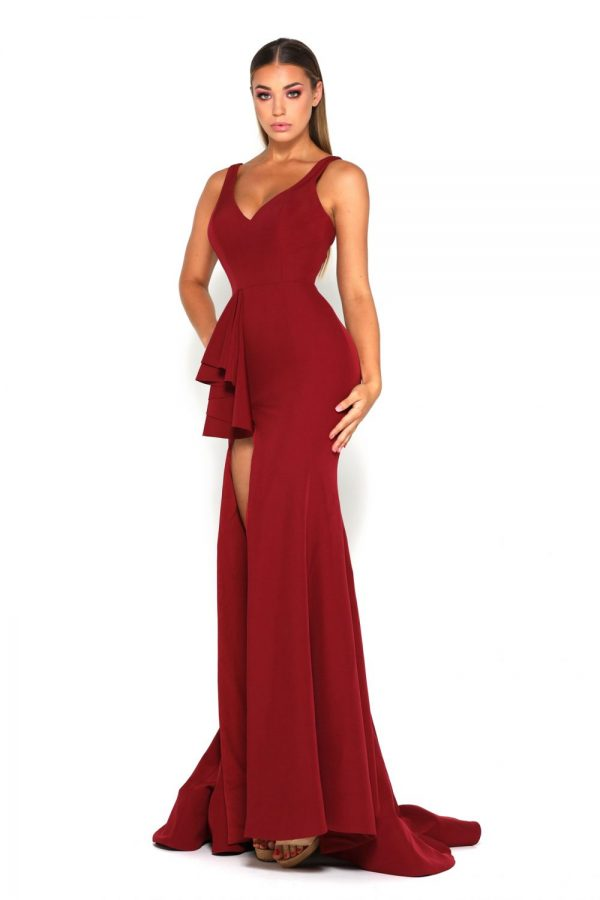 Sansa Gown Deep Red
