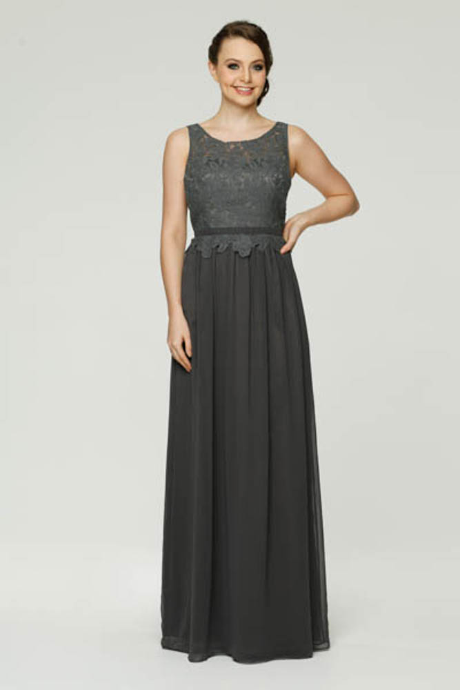 TO41 Sophie Bridesmaids Dress - end of dye lot charcoal