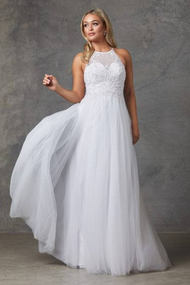 Sharnie Wedding Dress-pure white
