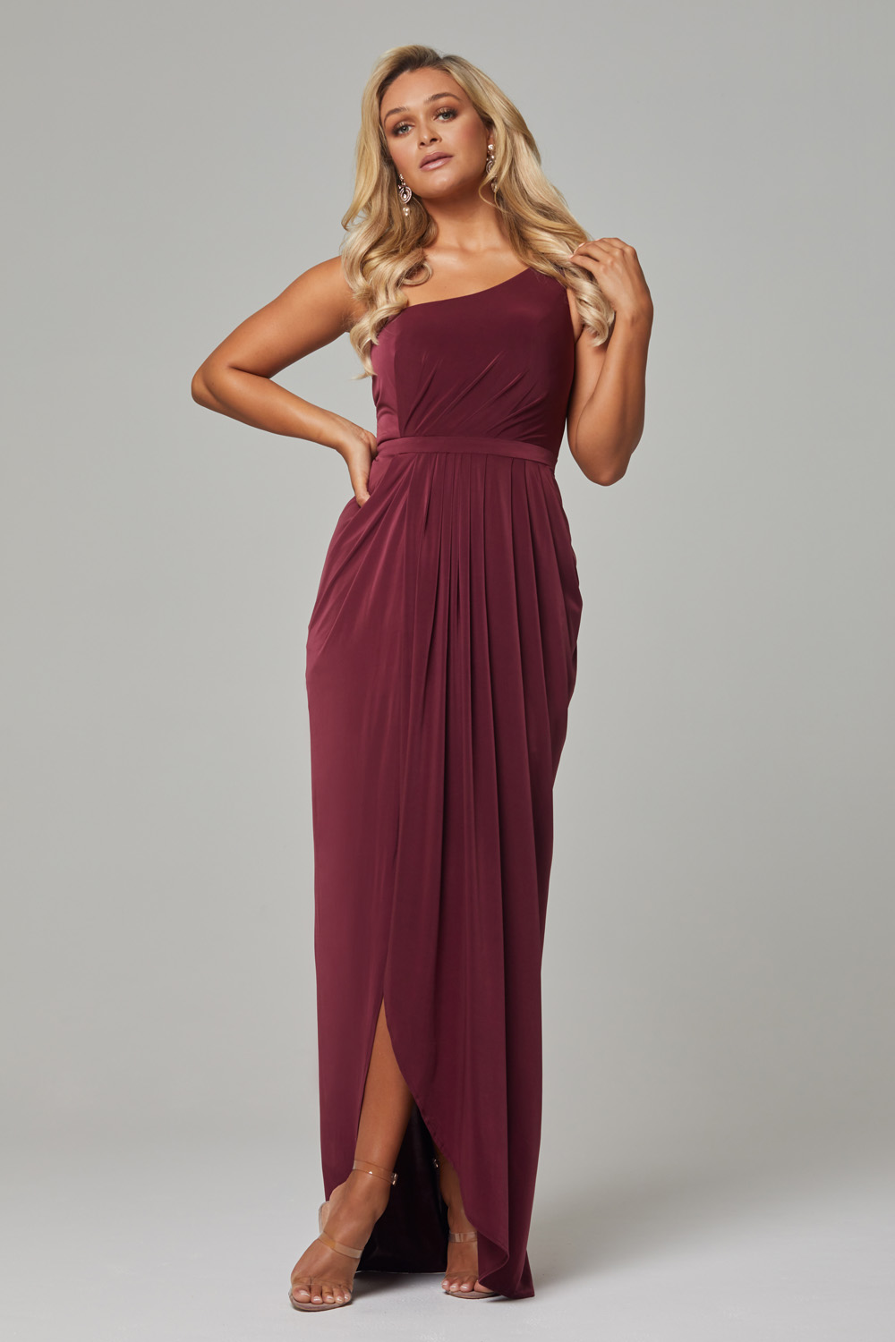 Eloise Bridesmaids Dress-wine