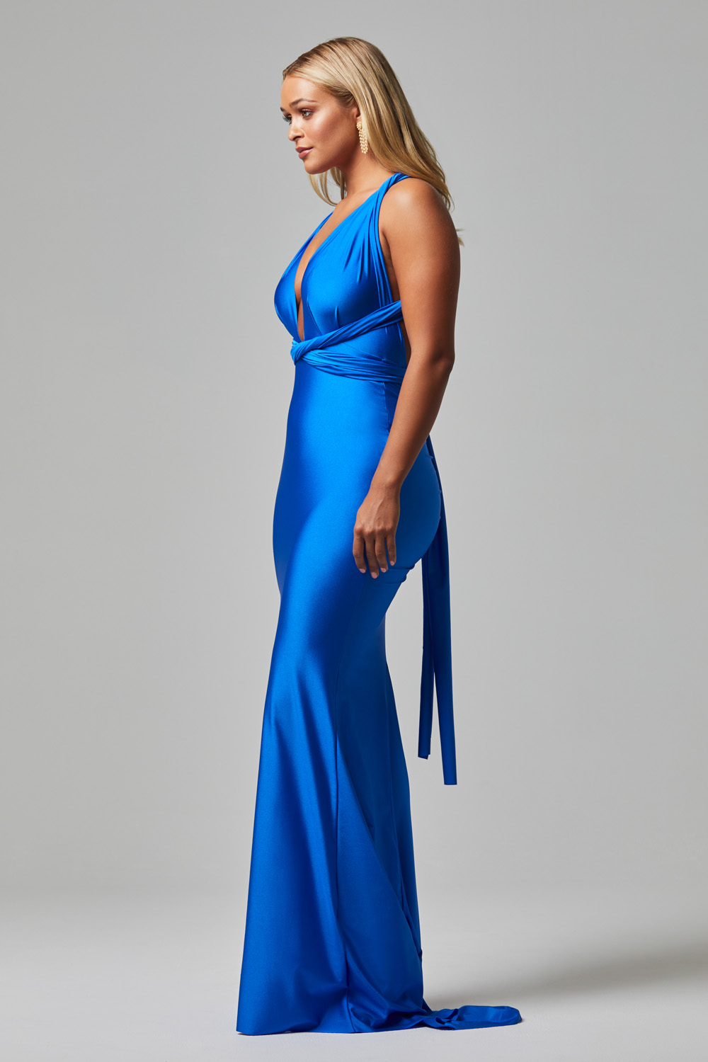 ETERNITY fitted Wrap Formal dress COBALT-SIDE (1)