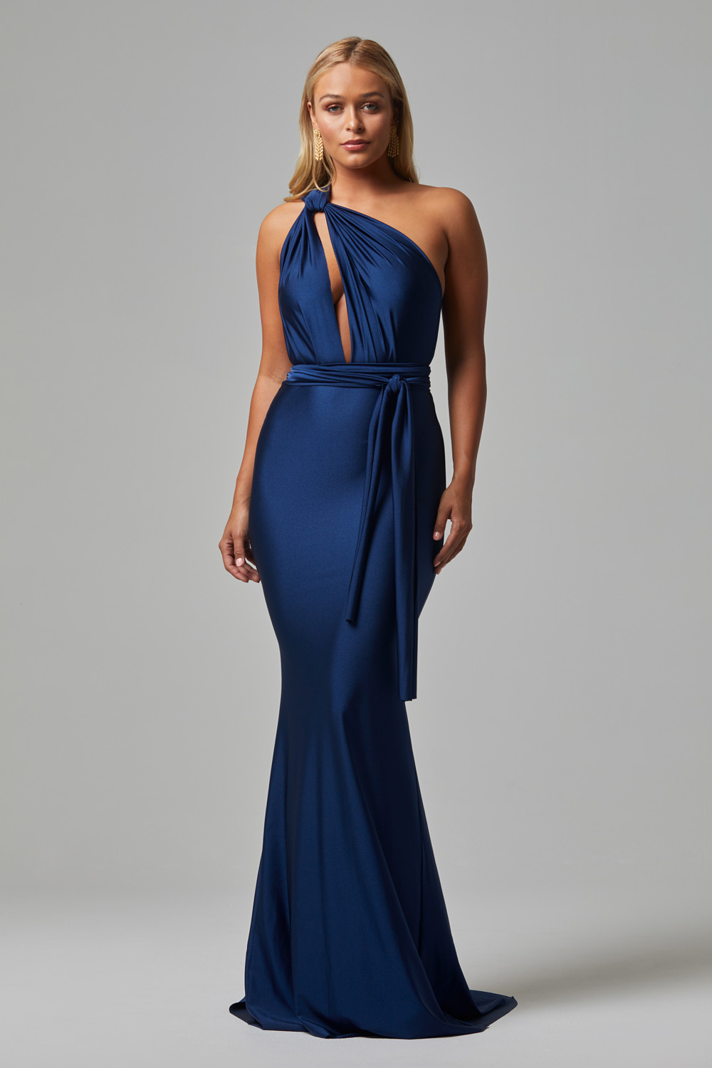 ETERNITY Fitted Wrap Formal Dress NAVY (1)