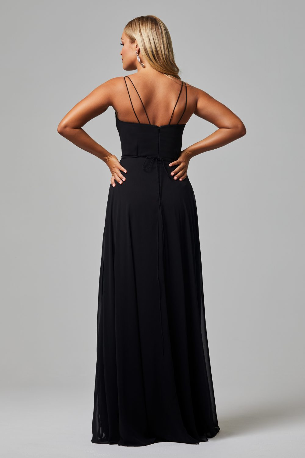 Freda Bridesmaid Dress BLACK back