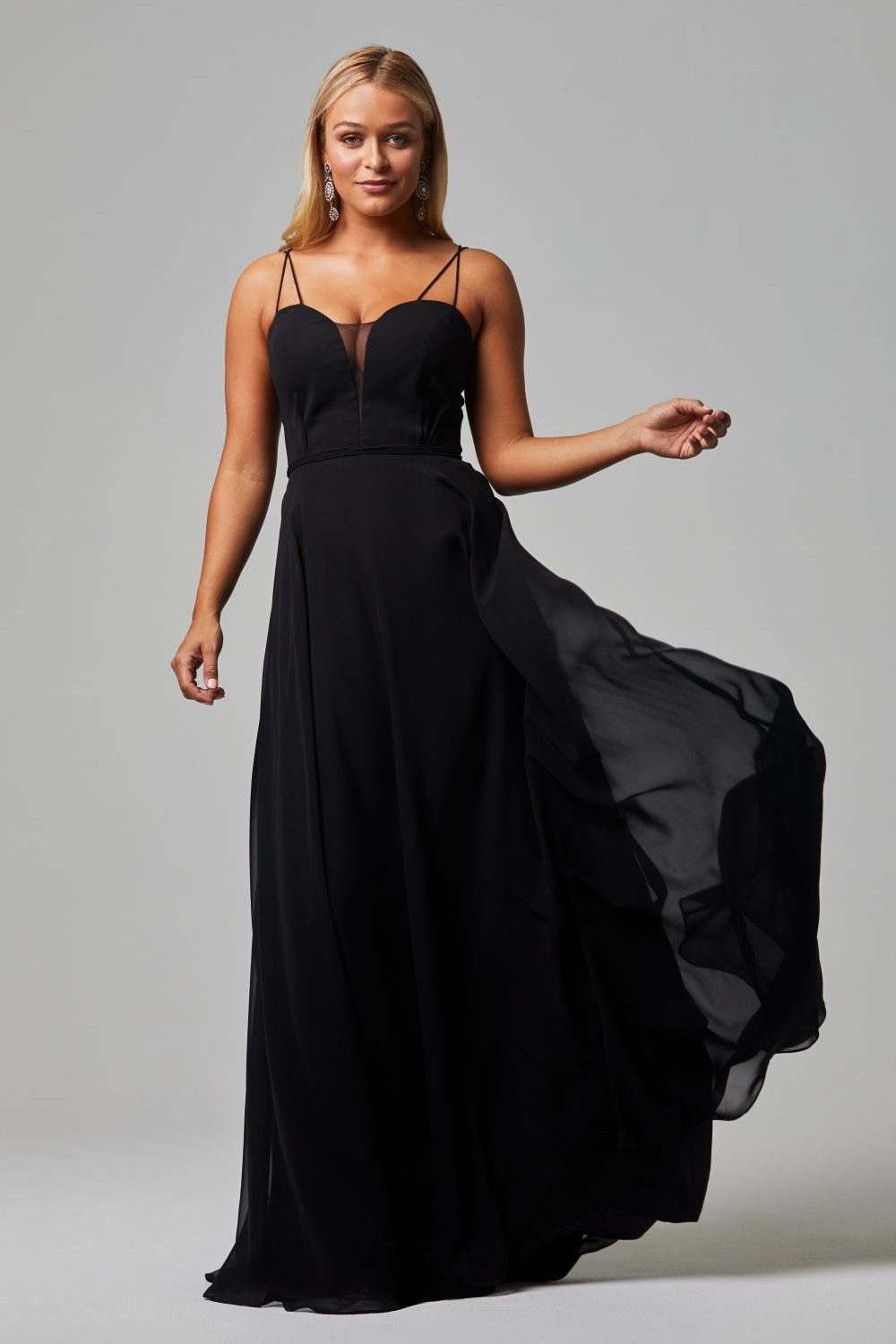 Freda Bridesmaid Dress BLACK front