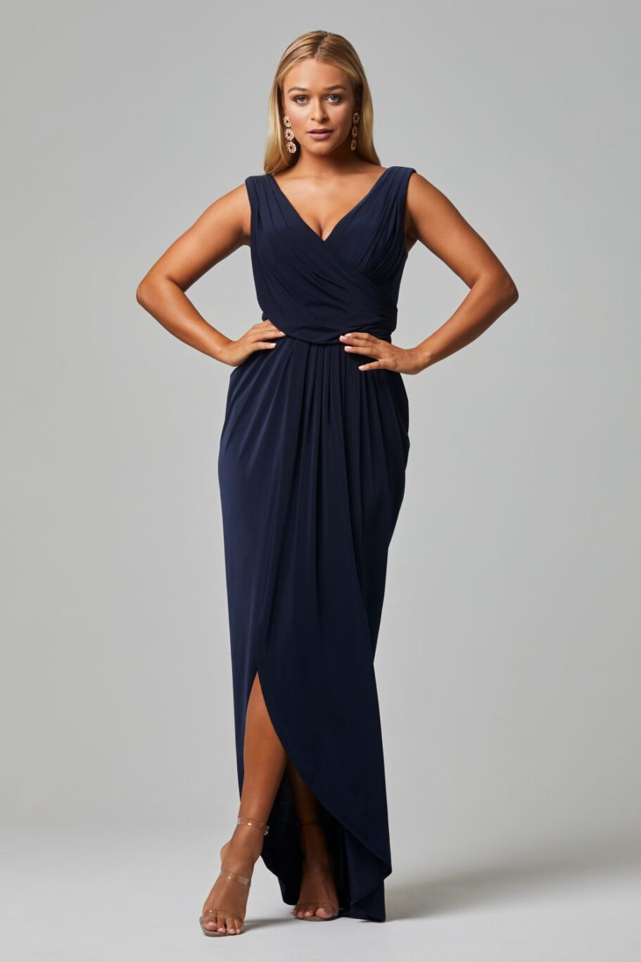 Kalani Bridesmaid Dress - NAVY FRONT