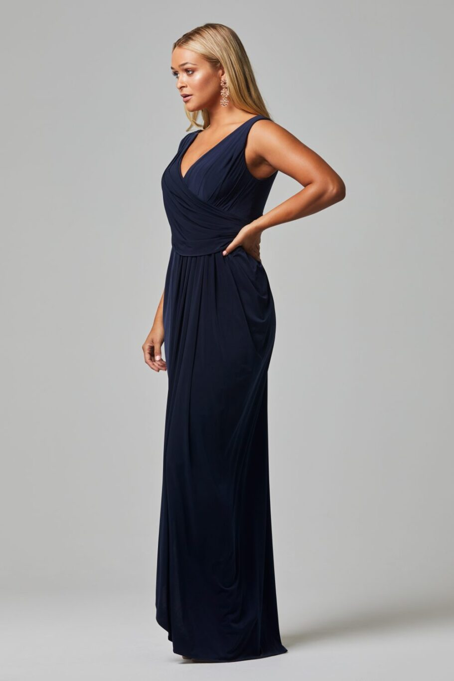 Kalani Bridesmaid Dress - NAVY SIDE