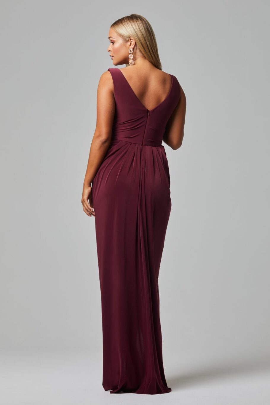 Kalani Bridesmaid Dress - WINE BACK