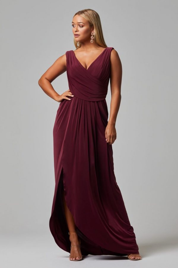 Kalani Bridesmaid Dress - WINE FRONT