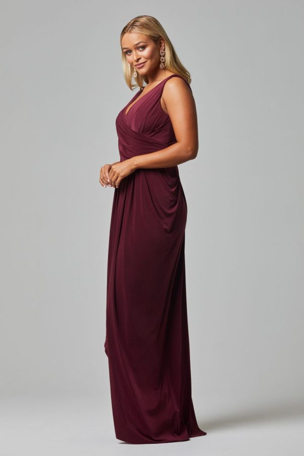 Kalani Bridesmaid Dress - WINE SIDE