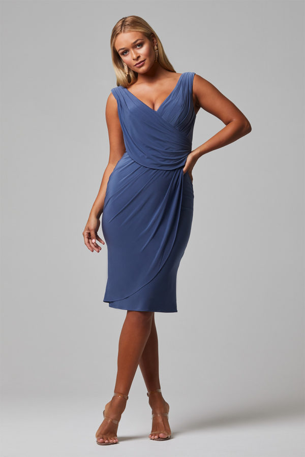 TO826 delta bridesmaid dress front